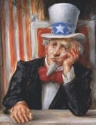 Uncle Sam Sad
